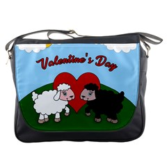 Valentines Day   Sheep  Messenger Bags by Valentinaart