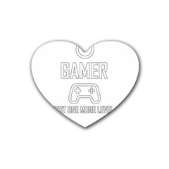 Gamer Rubber Coaster (heart)  by Valentinaart