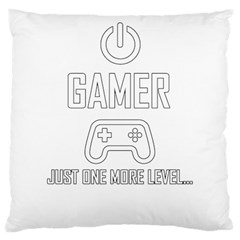 Gamer Large Cushion Case (two Sides) by Valentinaart