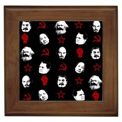 Communist Leaders Framed Tiles by Valentinaart