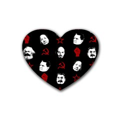 Communist Leaders Heart Coaster (4 Pack)  by Valentinaart