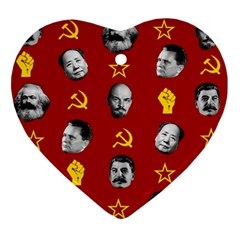 Communist Leaders Ornament (heart) by Valentinaart