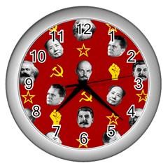 Communist Leaders Wall Clocks (silver)  by Valentinaart