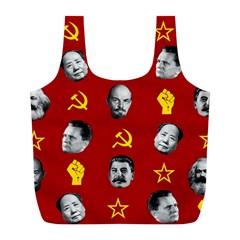 Communist Leaders Full Print Recycle Bags (l)  by Valentinaart