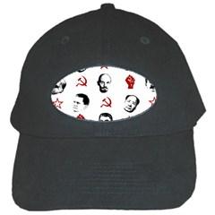 Communist Leaders Black Cap by Valentinaart