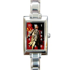 Lenin  Rectangle Italian Charm Watch by Valentinaart