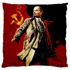 Lenin  Large Cushion Case (one Side) by Valentinaart