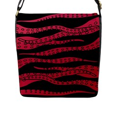 Blood Tentacles Flap Messenger Bag (l)  by jumpercat