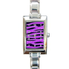 Purple Tentacles Rectangle Italian Charm Watch by jumpercat