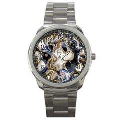 Time Abstract Dali Symbol Warp Sport Metal Watch by Nexatart