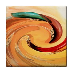 Spiral Abstract Colorful Edited Tile Coasters by Nexatart