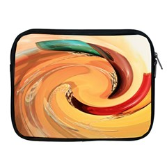 Spiral Abstract Colorful Edited Apple Ipad 2/3/4 Zipper Cases by Nexatart