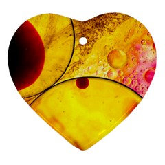 Abstract Water Oil Macro Ornament (heart) by Nexatart