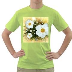 Summer Anemone Sylvestris Green T Shirt by Nexatart