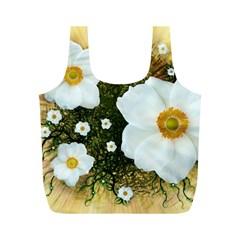Summer Anemone Sylvestris Full Print Recycle Bags (m)  by Nexatart