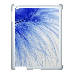 Feather Blue Colored Apple Ipad 3/4 Case (white) by Nexatart