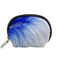 Feather Blue Colored Accessory Pouches (small)  by Nexatart