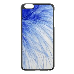 Feather Blue Colored Apple Iphone 6 Plus/6s Plus Black Enamel Case by Nexatart