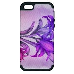 Flowers Flower Purple Flower Apple Iphone 5 Hardshell Case (pc+silicone) by Nexatart
