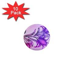 Flowers Flower Purple Flower 1  Mini Magnet (10 Pack)
