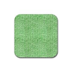 Knittedwoolcolour2 Rubber Coaster (square)  by snowwhitegirl