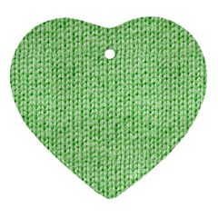 Knittedwoolcolour2 Heart Ornament (two Sides) by snowwhitegirl