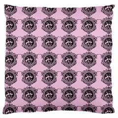 Three Women Pink Large Cushion Case (two Sides) by snowwhitegirl