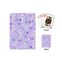 Violet,lavender,cute,floral,pink,purple,pattern,girly,modern,trendy Playing Cards (mini)  by 8fugoso