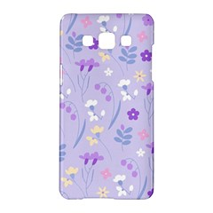 Violet,lavender,cute,floral,pink,purple,pattern,girly,modern,trendy Samsung Galaxy A5 Hardshell Case  by 8fugoso