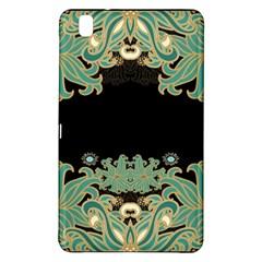 Black,green,gold,art Nouveau,floral,pattern Samsung Galaxy Tab Pro 8 4 Hardshell Case by 8fugoso
