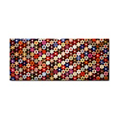 Mosaic Pattern Quilt Pattern Hand Towel by paulaoliveiradesign