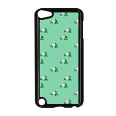 Pink Flowers Green Big Apple Ipod Touch 5 Case (black) by snowwhitegirl