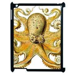 Gold Octopus Apple Ipad 2 Case (black) by vintage2030