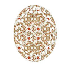 Colorful Modern Pattern Oval Filigree Ornament (two Sides) by dflcprints