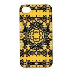 Ornate Circulate Is Festive In A Flower Wreath Decorative Apple Iphone 4/4s Hardshell Case With Stand by pepitasart