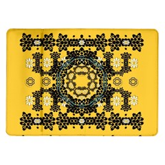 Ornate Circulate Is Festive In A Flower Wreath Decorative Samsung Galaxy Tab 10 1  P7500 Flip Case by pepitasart