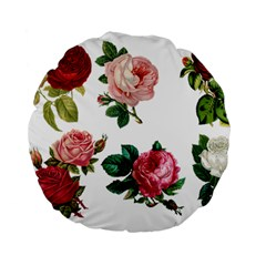Roses 1770165 1920 Standard 15  Premium Flano Round Cushions by vintage2030