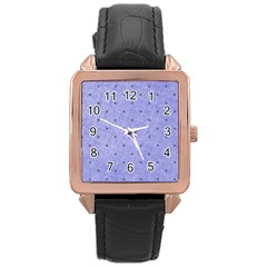 Dot Blue Rose Gold Leather Watch  by vintage2030