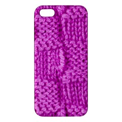 Knitted Wool Square Green Iphone 5s/ Se Premium Hardshell Case by vintage2030