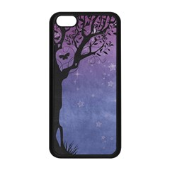 Silhouette Tree Apple Iphone 5c Seamless Case (black) by vintage2030
