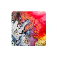 Art Abstract Macro Square Magnet by Nexatart