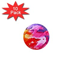 Abstract Art Background Paint 1  Mini Magnet (10 Pack)  by Nexatart