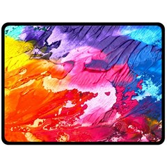 Abstract Art Background Paint Fleece Blanket (large)  by Nexatart