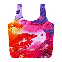 Abstract Art Background Paint Full Print Recycle Bags (l)  by Nexatart