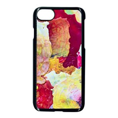 Art Detail Abstract Painting Wax Apple Iphone 8 Seamless Case (black) by Nexatart