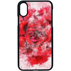 Flower Roses Heart Art Abstract Apple Iphone X Seamless Case (black) by Nexatart