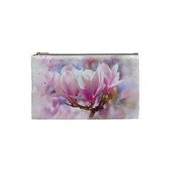 Flowers Magnolia Art Abstract Cosmetic Bag (small)