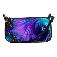 Abstract Fractal Fractal Structures Shoulder Clutch Bags by Nexatart