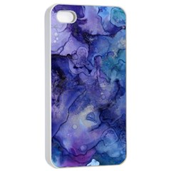 Ink Background Swirl Blue Purple Apple Iphone 4/4s Seamless Case (white) by Nexatart