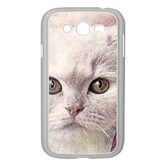 Cat Pet Cute Art Abstract Vintage Samsung Galaxy Grand Duos I9082 Case (white) by Nexatart